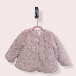 Faux Fur Pink Toddler Coat